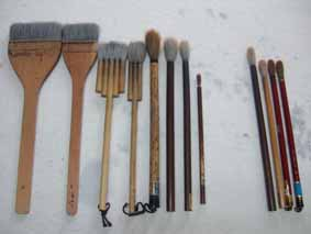 絵筆の種類