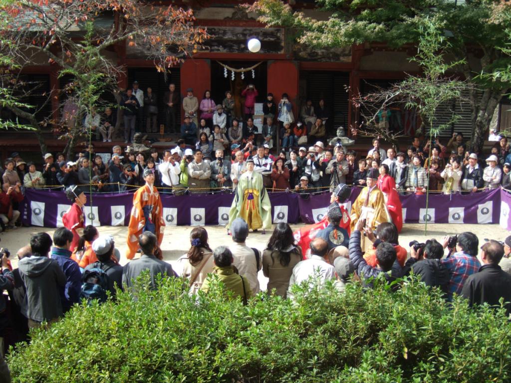 談山神社展示会 蹴鞠まつり